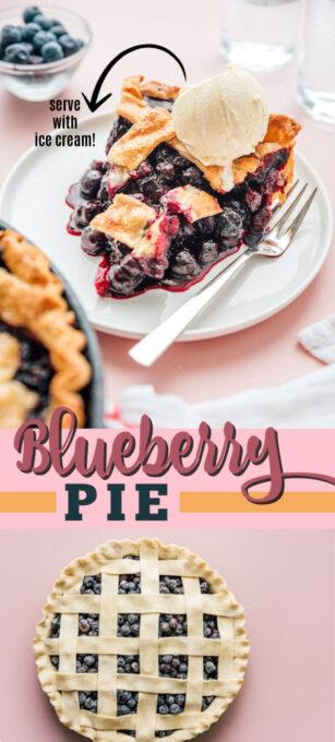 blueberry pie pin image
