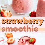 strawberry smoothie pin image