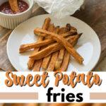 sweet potato fries pin image