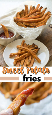 sweet potato fries pin image