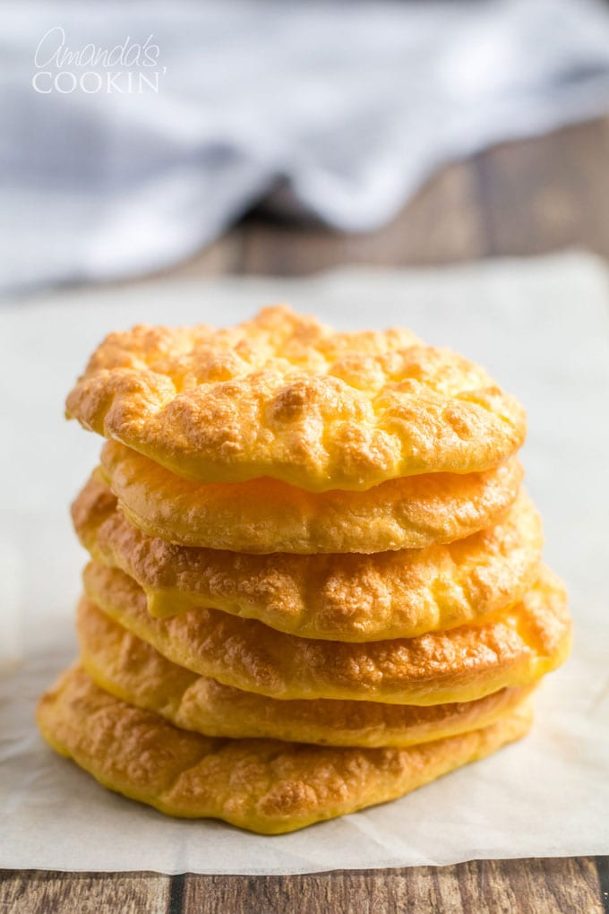 cloud bread in a stack