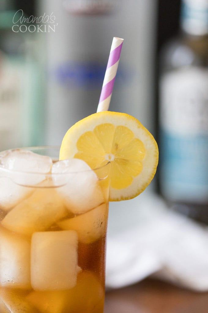 close up of Long Island Iced Tea