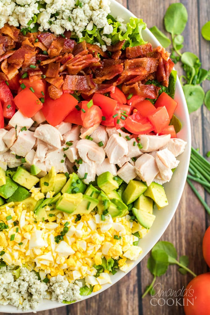 close up of cobb salad