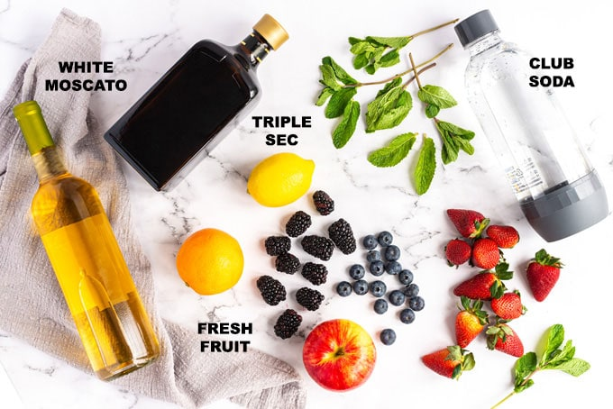 ingredients for white sangria