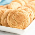 plate of snickerdoodles
