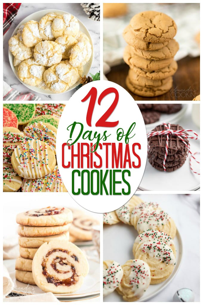 collage for 12 days of christmas cookies