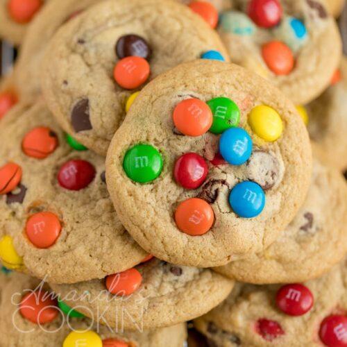 Chocolate Chip M M Cookies Recipe Amanda S Cookin