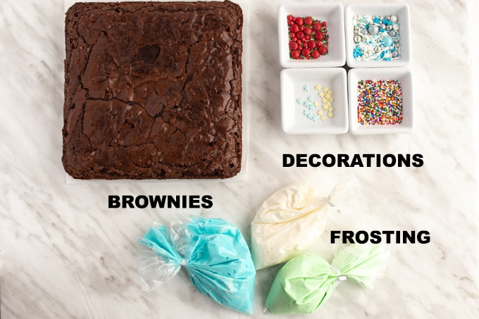 ingredients for brownie trees