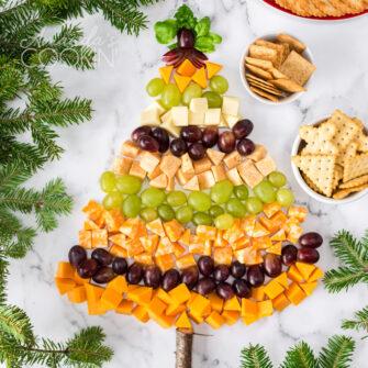 Christmas tree cheese platter