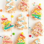 assorted Christmas Tree Rice Krispie Treats