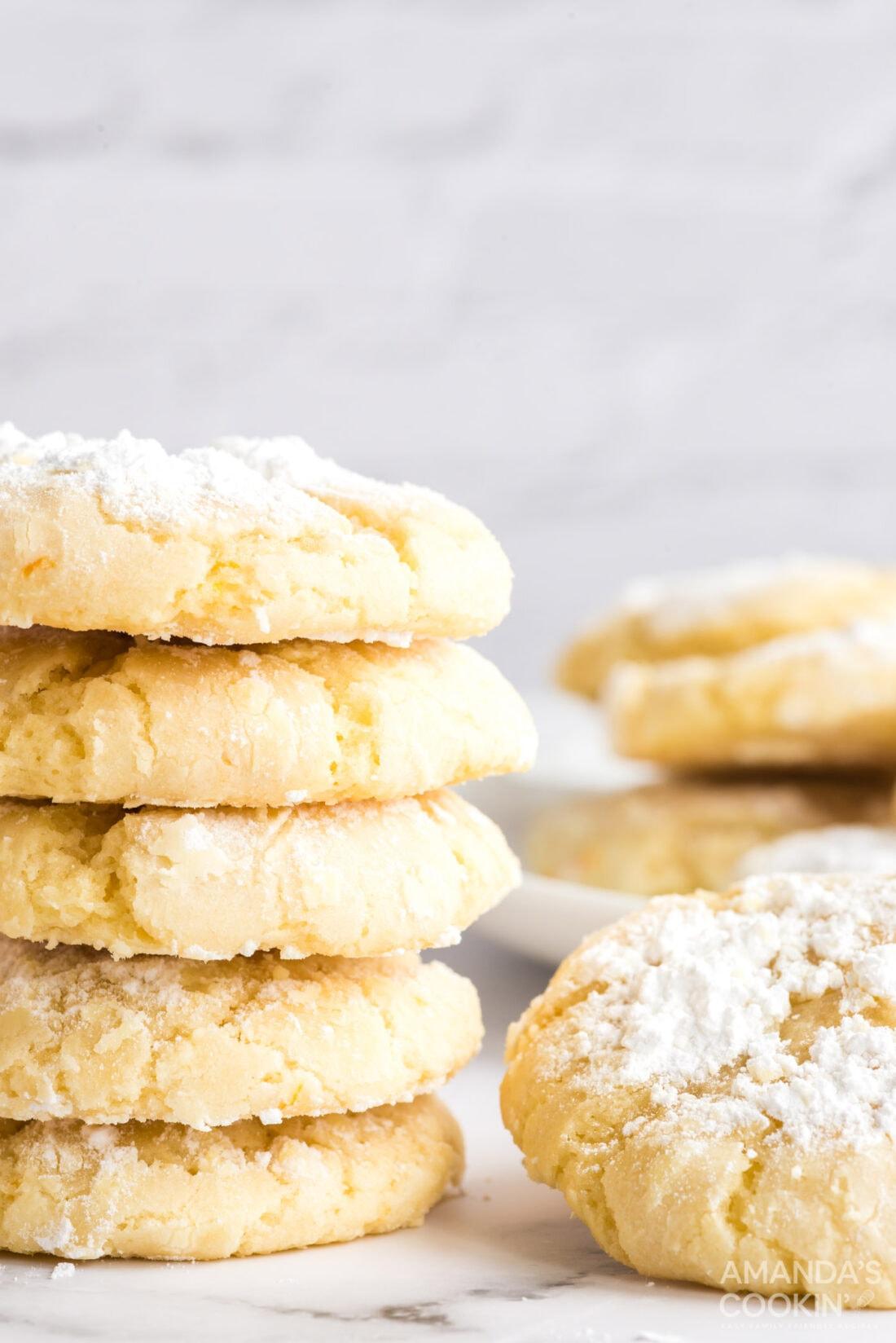 orange crinkle cookies on a plate