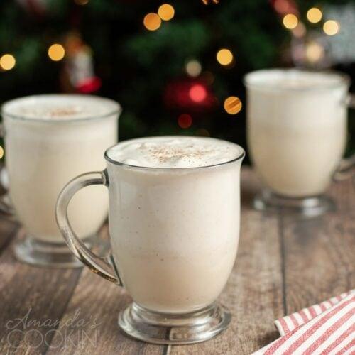 3 mugs of eggnog