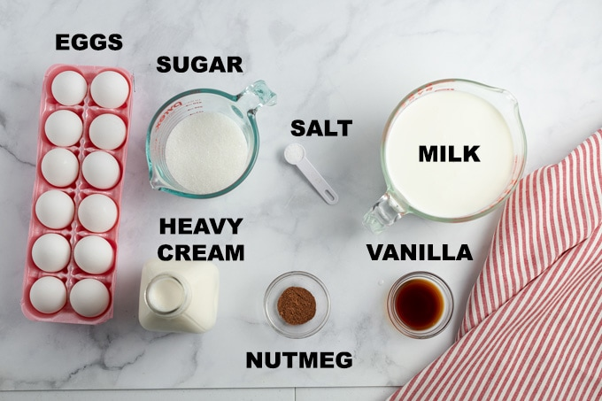 eggnog ingredients