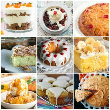 many different types of cake in a collage