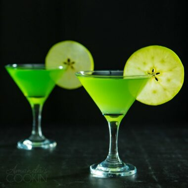 green appletini martinis