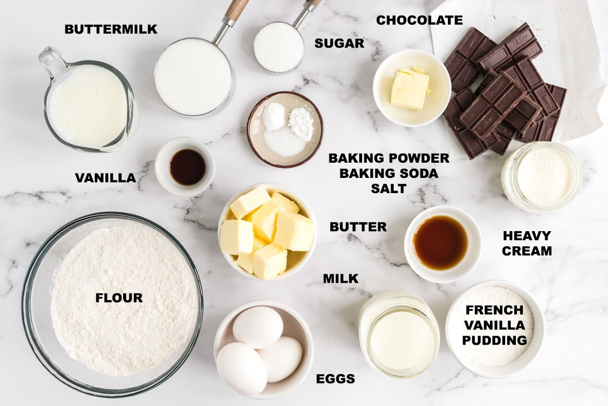INGREDIENTS NEEDED FOR BOSTON CREAM CUPCAKES