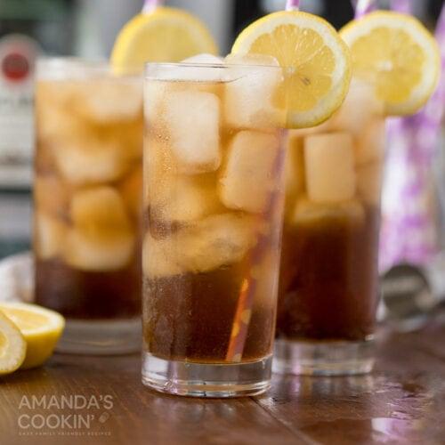 3 glasses of long island iced teas