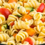 rotini pasta salad with vegetables