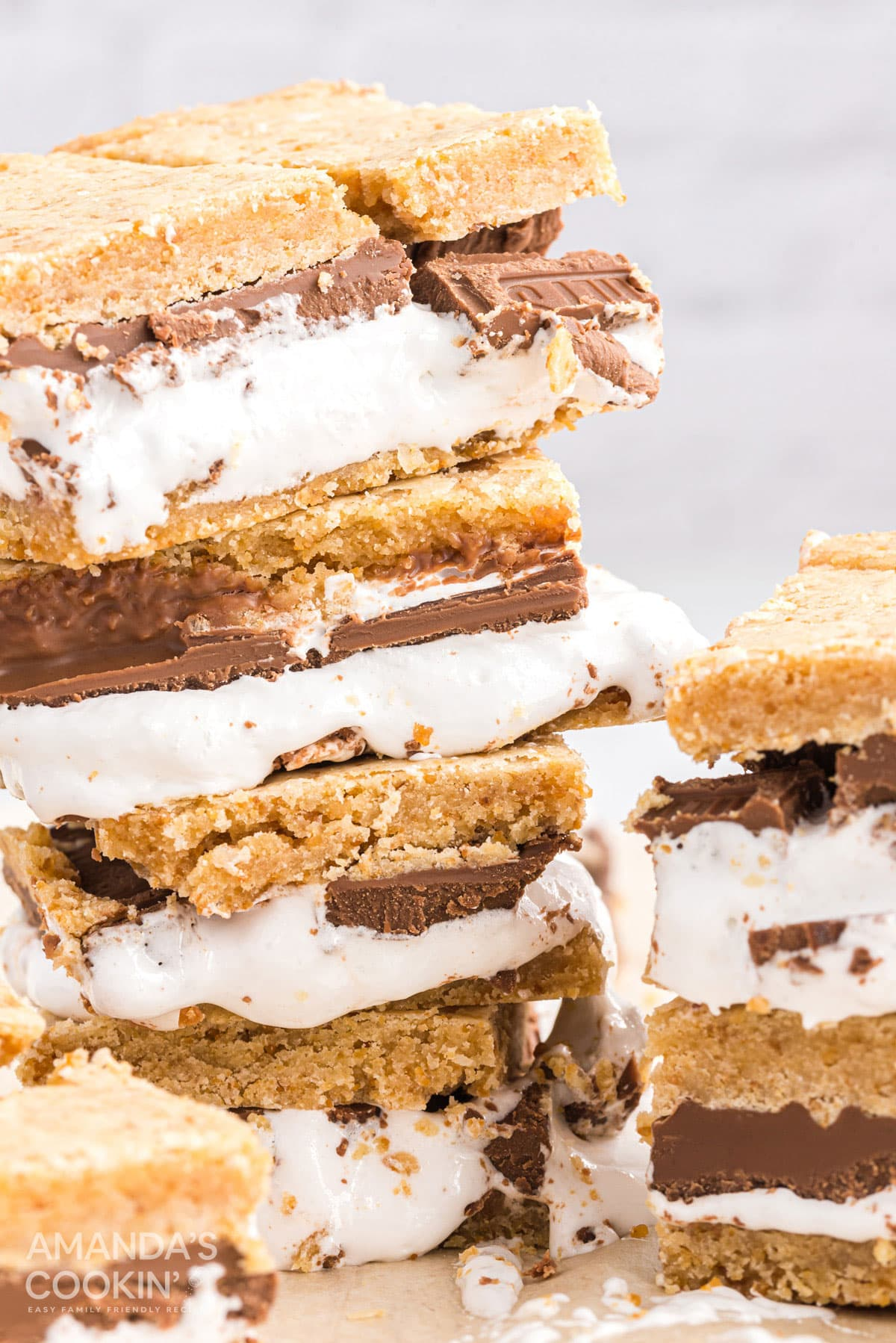 stack of smores bars
