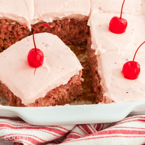 slice of cherry cake