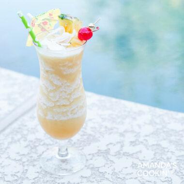 frozen pina colada poolside