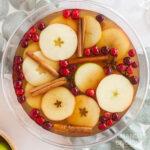 punch bowl of hot apple cider