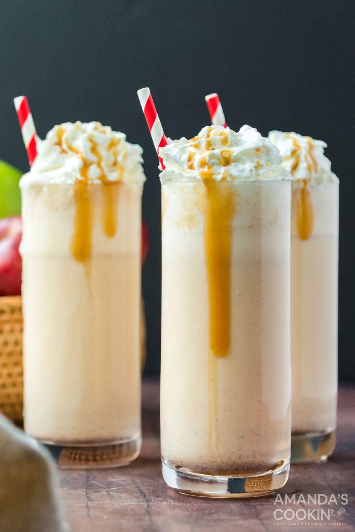 3 apple cider milkshakes