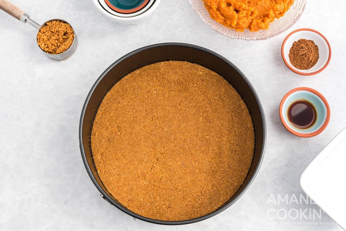 crumb crust in springform pan