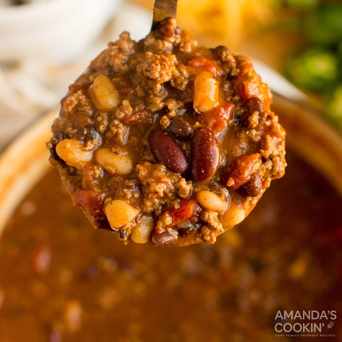 3 Bean Chili Recipe Amanda S Cookin