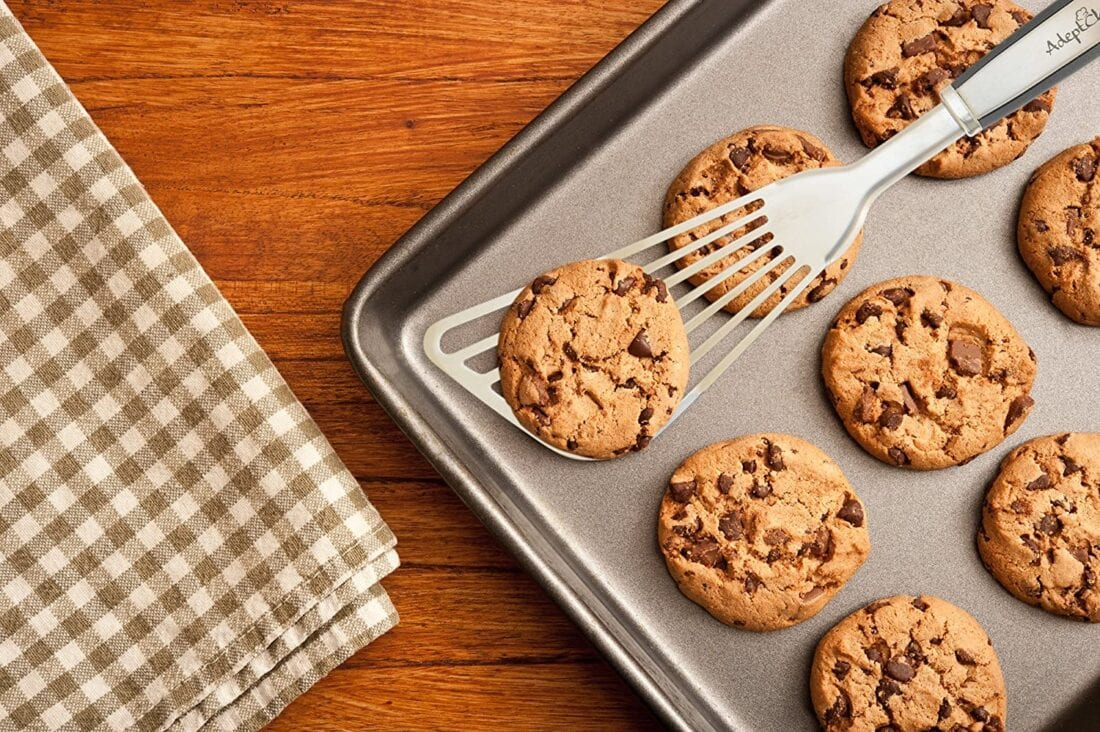 cookies and spatula