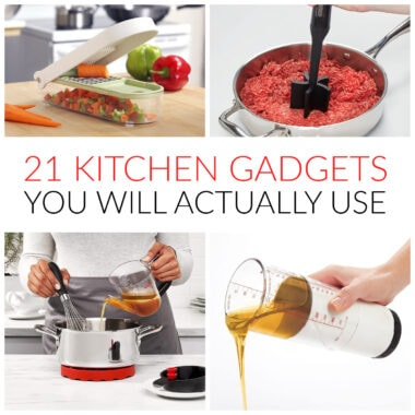 COLLAGE OF KITCHEN GADGET IMAGES