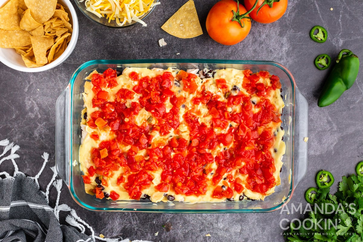 canned soup layer in casserole