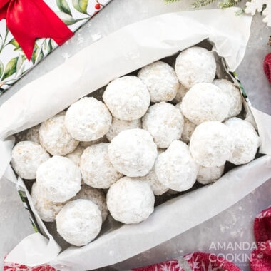 box of snowball cookies