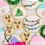 pinterest image for decorated sugar cookies