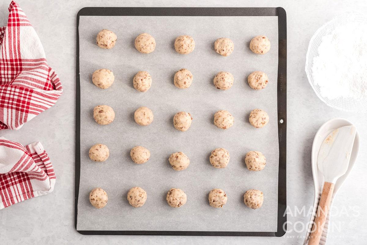 uncooked cookies