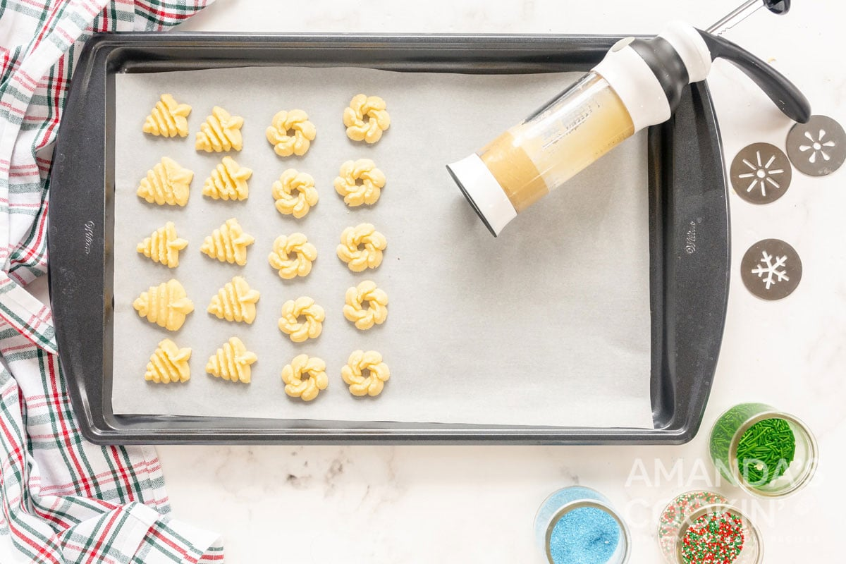 cookies made from cookie press
