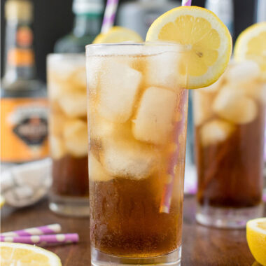 glass of long island iced tea