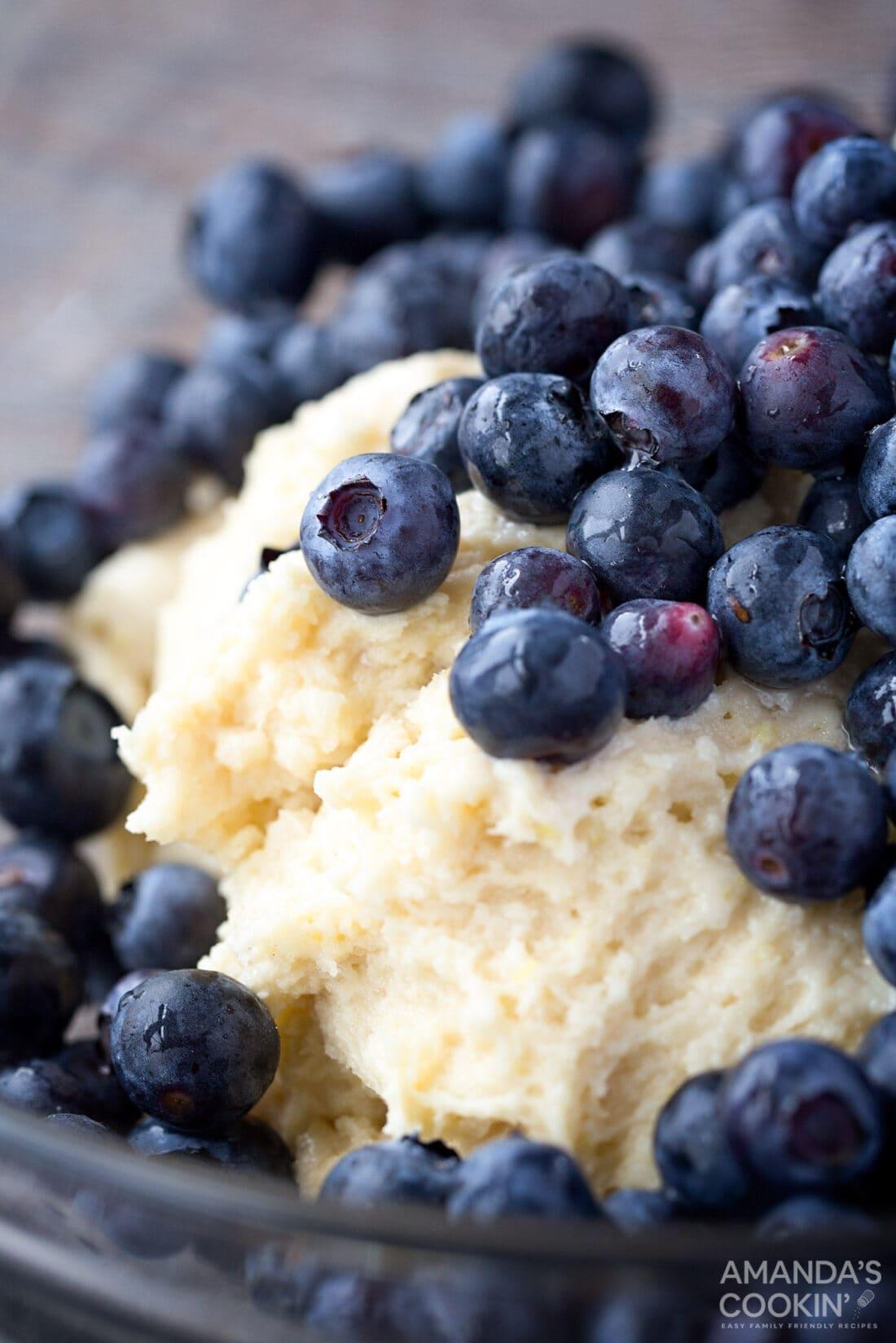 blueberry in cake batter