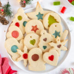 plate of stained glass cookies
