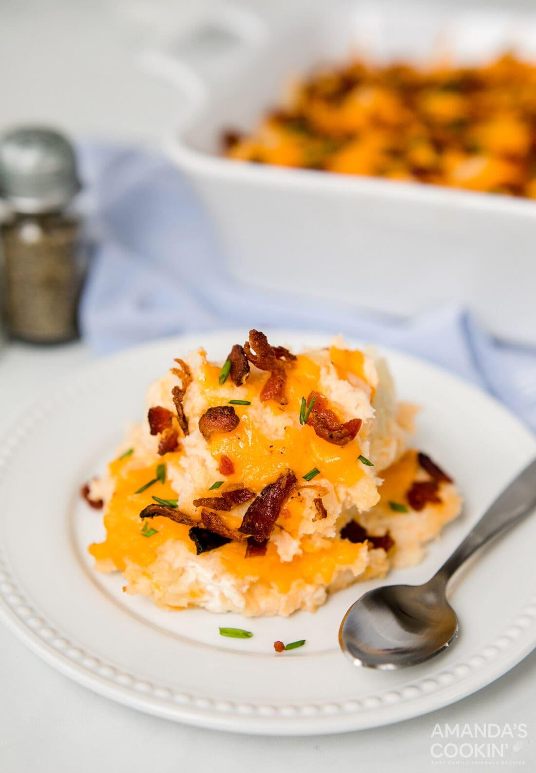plate of potato casserole