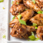 plate of spicy chicken wings