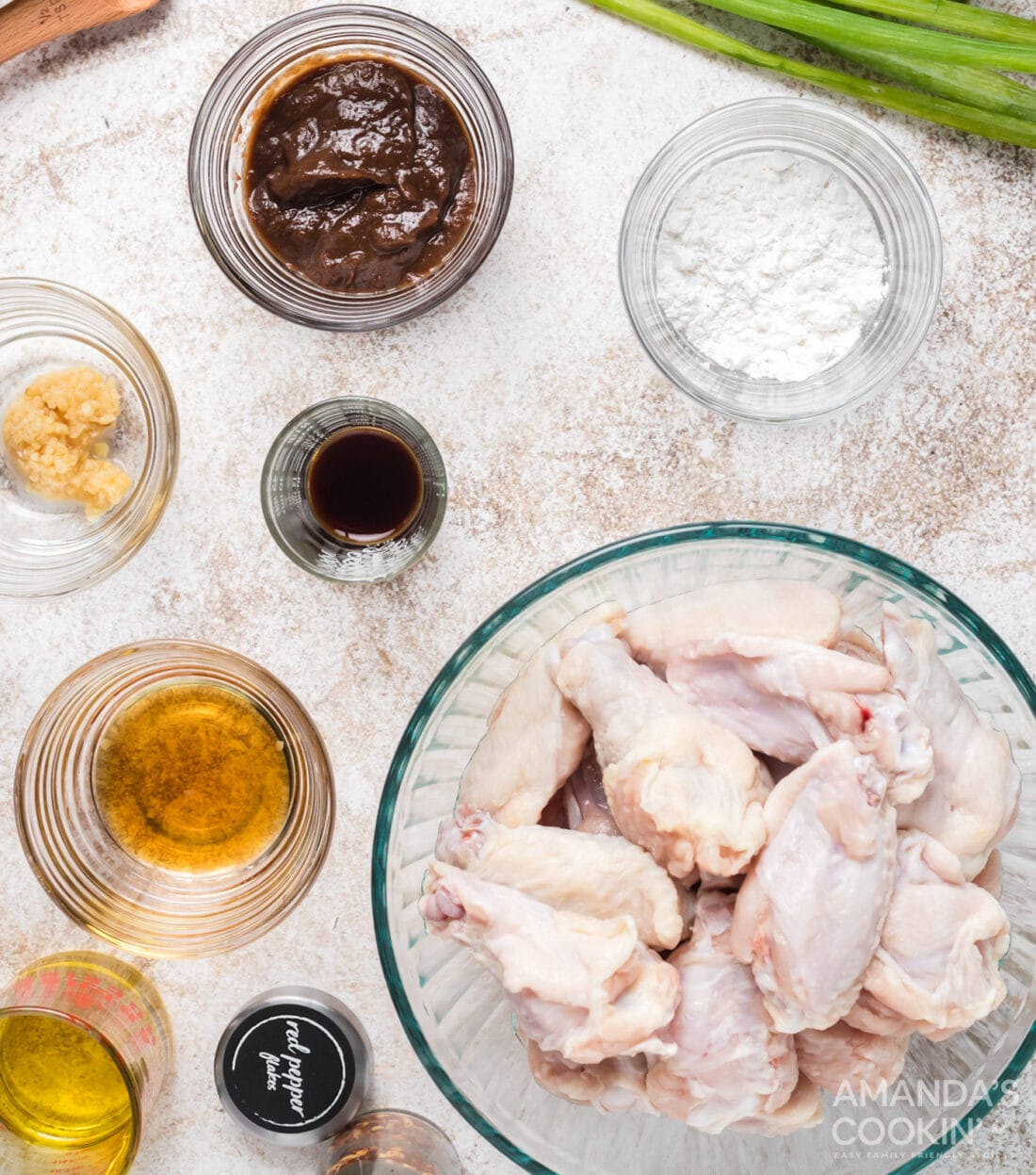 ingredients for spicy chicken wings