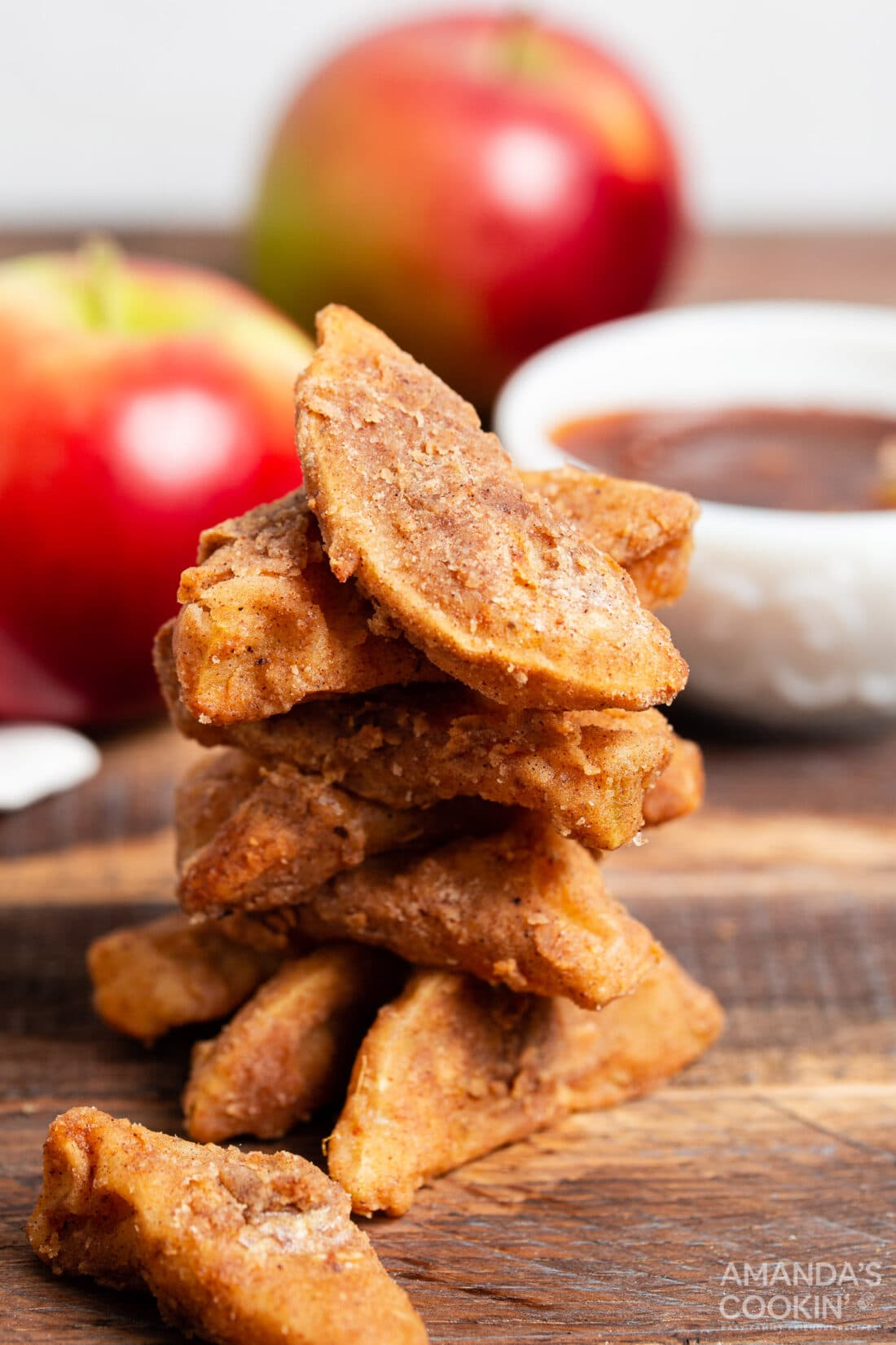 pile of Air Fryer Apple Fries