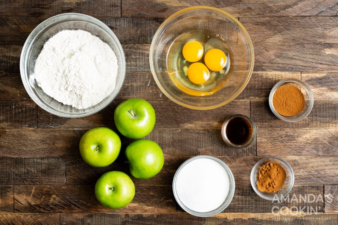 ingredients for making Air Fryer Apple Fries