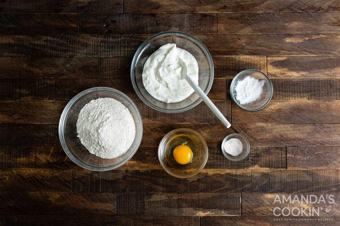 ingredients for making air fryer bagels