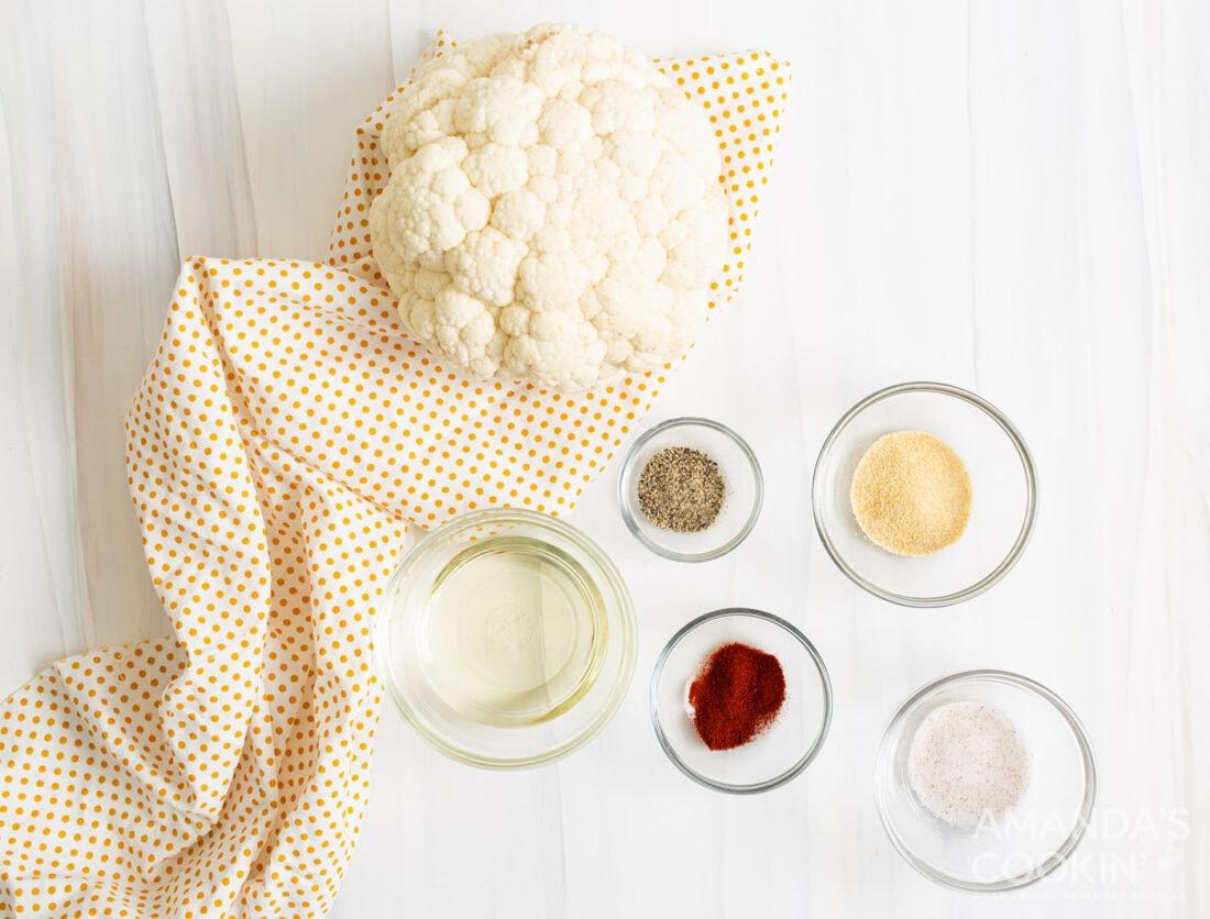 Air Fryer Cauliflower ingredients