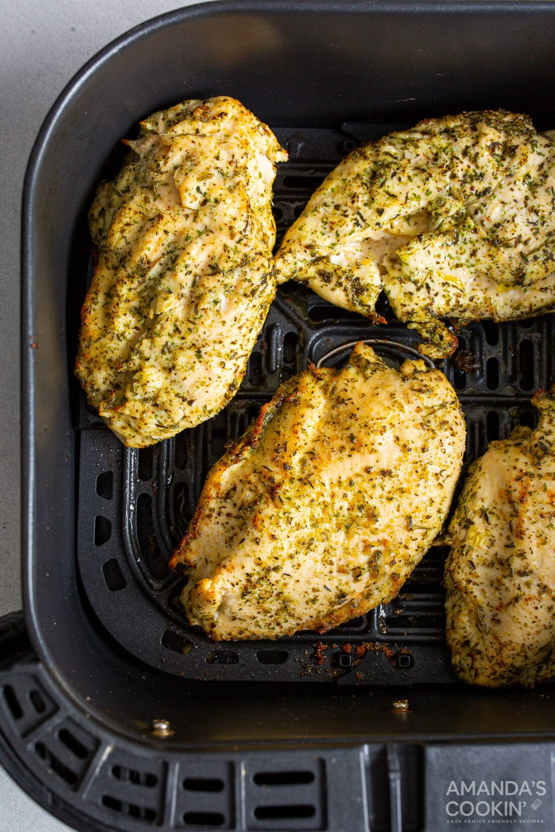 chicken breasts in an air fryer