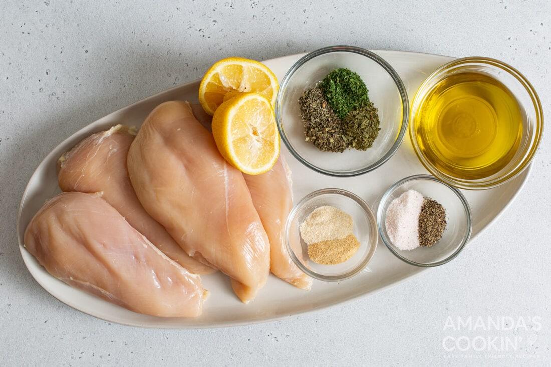 ingredients for air fryer chicken breasts