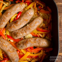 italian sausage nd peppers in the air fryer basket