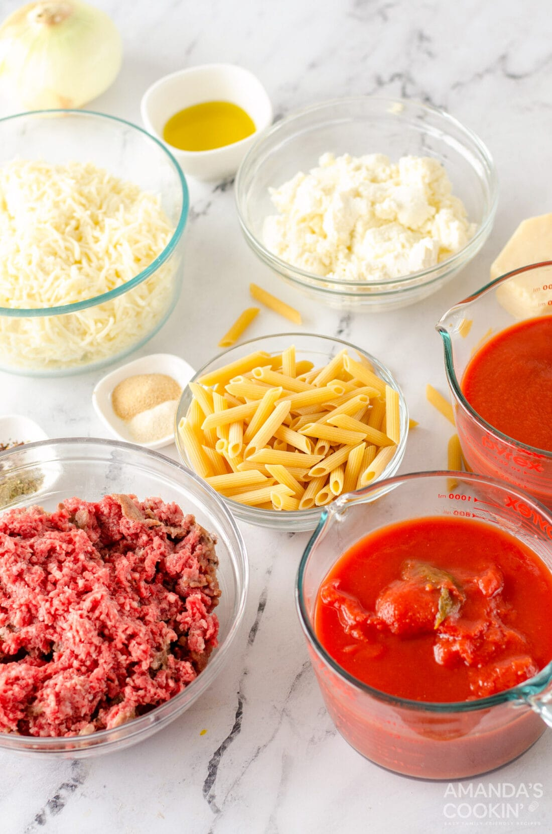 ingredients for baked ziti